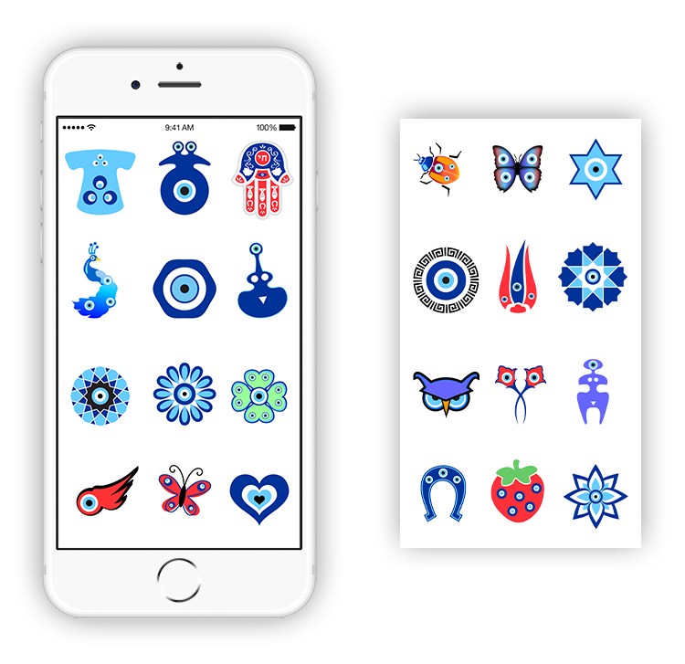 Evil Eye iMessage Stickers, Nazar Protection
