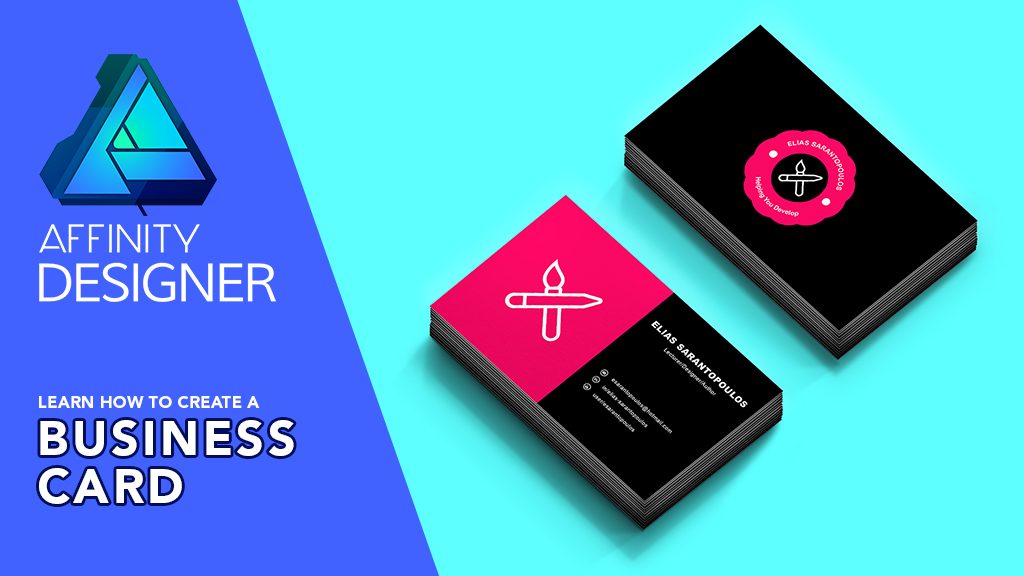 Affinity Designer - How to Create a Business Card Design